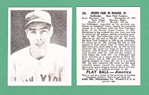 Joe DiMaggio 1939 Playball Baseball Reprint Card (New York Yankees)