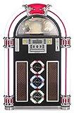 Ricatech RR1600 - Jukebox style retro 50's avec ports USB et SD, AUX, lecteur CD, tuner radio FM-AM et effets lumineux LED...