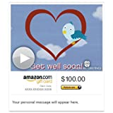 Amazon Gift Card - E-mail - A Get Well Hug (Animated) [American Greetings] ~ Amazon