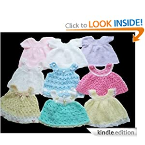 Crochet Pattern - CP20 - 1 baby dress and 6 pinaforesb