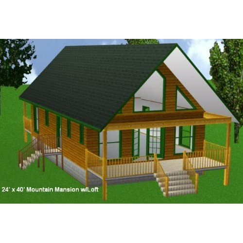 Cabin blueprints with loft joy studio design gallery for Simple cabin plans with loft