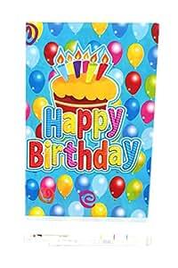 Funcart Frolic Birthday theme plastic cover sheet