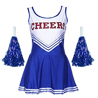 VARSITY COLLEGE SPORTS School Girl CHEERLEADER UNIFORM COSTUME OUTFIT