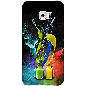 Casotec Splash Design Hard Back Case Cover for Samsung Galaxy S6