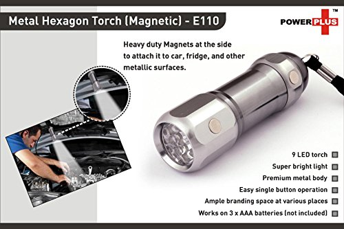 Power-plus-E110-Hexa-Metal-9-LED-Torch-Light
