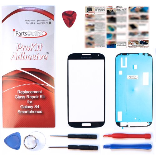 S4 Prokit For Samsung Galaxy S4 Black Mist Replacement Screen Glass Lens Repair Kit S4 Iv I9500 S4 Prokit Adhesive