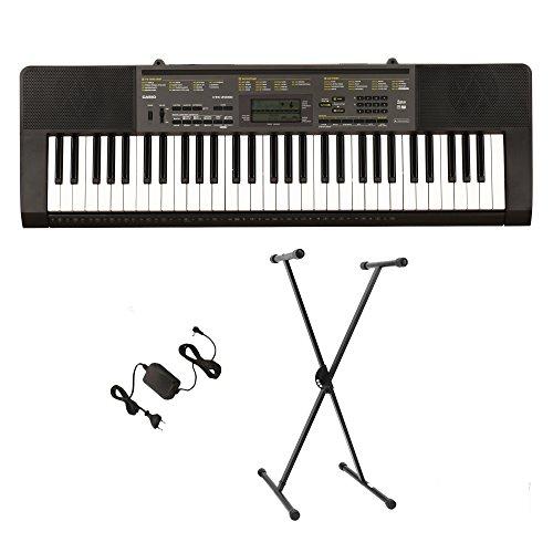 Casio Ctkvk3 Pak 61-Key Premium Keyboard Bundle With Keyboard Stand And Power Supply