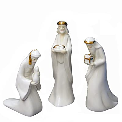 Kurt Adler 7.25 Porcelain Three Kings Set