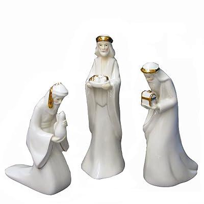 Kurt Adler 7.25 Porcelain Three Kings Set