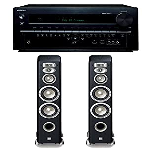 Onkyo TX-NR838 7.2 Channel Networking Home Theater Receiver Plus (1) Pair of JBL Studio L880 4-Way Floorstanding Loudspeakers