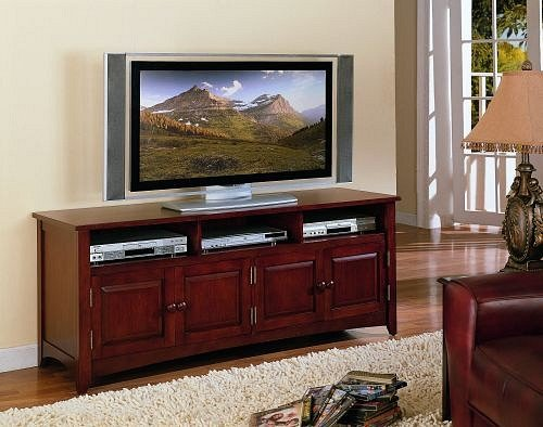 Cheap Dark brown finish wood TV / Plasma / LCD stand entertainment center (F4417)