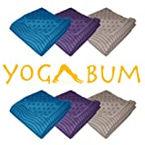 Yogabum ULTRA COMPACT Non-Slip Yoga Mat Towel Double Sided in 3 Colours. Ideal for traveling and Bikram Yoga