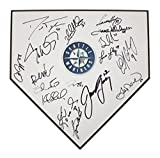 Seattle Mariners 2013 Team Autographed Signed Home Plate 17 Signatures