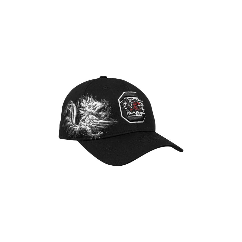 Top of the World South Carolina Gamecocks Black Strike Zone One Fit Hat