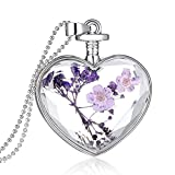 Gmai Heart Pendant Purple Necklace