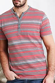 North Coast Pure Cotton Feeder Stripe Slub Shirt [T28-6914N-S]
