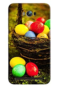 Blue Throat Colored Eggs Hard Plastic Printed Back Cover/Case For Asus Zenfone Max
