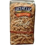 DeLallo Organic Whole Wheat Fusilli #27, 16-Ounce Units (Pack of 16)