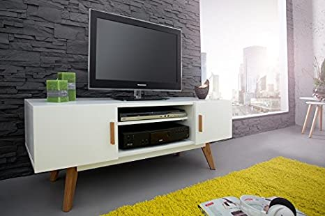 Dunord design mueble de TV, 120 cm, blanco
