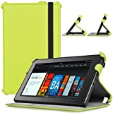 CaseCrown Ace Flip Case (Green Glow) for Amazon Kindle Fire