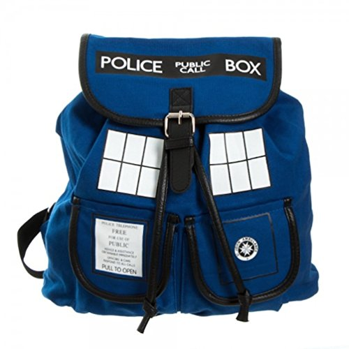 Doctor Who Tardis Phone Booth Knapsack Back Pack Book Bag New Licensed