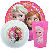 Disney Frozen Tumbler Bowl and Plate Dinnerware Set