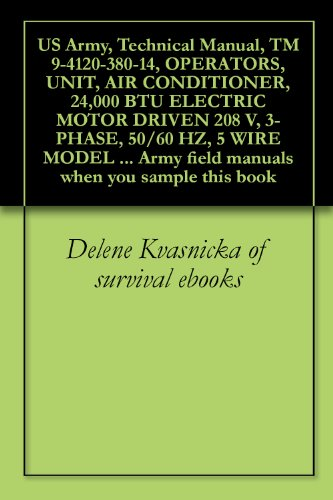 Us Army, Technical Manual, Tm 9-4120-380-14, Operators, Unit, Air Conditioner, 24,000 Btu Electric Motor Driven 208 V, 3-Phase, 50/60 Hz, 5 Wire Model ... Field Manuals When You Sample This Book