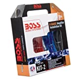 Boss KIT-2 Complete 8 Gauge Amplifier Installation Kit
