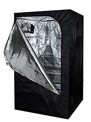 TMS® 48x48x78 100% Reflective Mylar Hydroponics Indoor Grow Tent Non Toxic Room 4x4x6.5ft