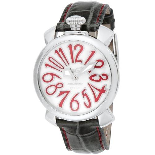 [ガガミラノ]GaGa MILANO 腕時計 マニュアーレ40mm ホワイトパール文字盤 5020.10-GRY  【並行輸入品】