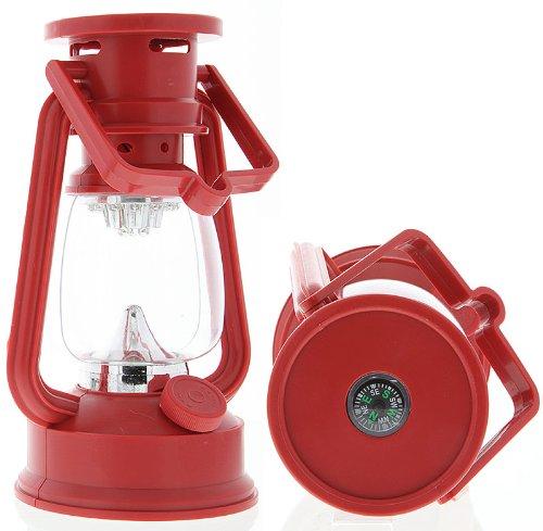 15 Led Hurricane Lantern Red Emergency Light 3Aa Batteries