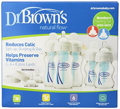 Dr. Brown's Natural Flow Newborn Feeding Set, Wide Neck - 1