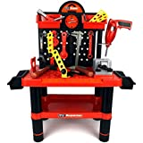 Velocity Toys Superior Work Shop Childrens Kids Pretend Play Toy Work Shop Tool Set W/ Tools, Accessories