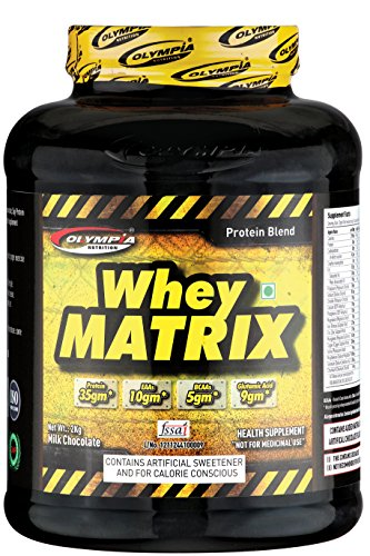 Olympia Whey Protein Matrix Chocolate Flavour 2Kg For Unisex