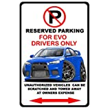 Mitsubishi Evo Evolution Exotic Car No Parking Sign
