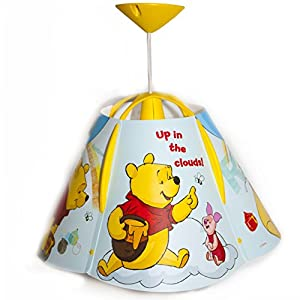 Disney® Winnie the Pooh Children Kids Ceiling Pendant Light + Lamp Shade Lampshade (Complete Fittings) by Disney®