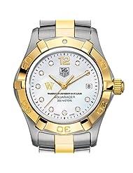 WUSTL TAG Heuer Watch - Women's Two-Tone Aquaracer Watch with Diamond Dial
