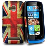 Phonedirectonline - Vintage union jack design fancy hard case cover pouch for Nokia lumia 610