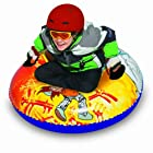 Aqua Leisure Winter Inflatable Yeti Racer Snow Tube Sled  for 1 ( One ) Single Rider on Sledding Hill, Fast yet Safe, with 2 ( Two ) Big Durable Grip Handles and Repair Kit, 37