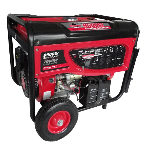 Smarter Tools ST-GP9500EB Portable Gasoline Generator with Electric Start and Battery, 9500-watt