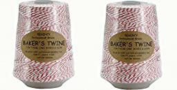 Regency Baker\'s Twine Cone red and white