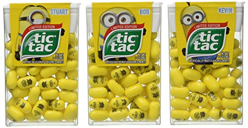 Limited Edition Minions Tic Tac Value 3-Pack: Stuart, Kevin & Bob (Minions Fruit compare prices)