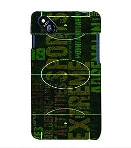PrintVisa Sports Football Ground 3D Hard Polycarbonate Designer Back Case Cover for Micromax Bolt D303
