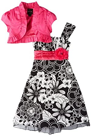 My Michelle Girls 7-16 Short Sleeve Jacket Dress, Pink, 7