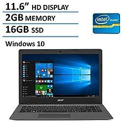 2016 NEW Edition Acer Aspire One 11 Cloudbook 11.6-inch Laptop, Intel Dual-Core Processor, 2GB RAM, 16GB SSD, 100GB OneDrive Cloud Storage 2 years, Bluetooth, HDMI, Windows 10
