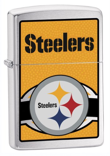 Zippo NFL Steelers Lighter (Silver, 5 1/2 x 3 1/2 cm) from ZIPPO