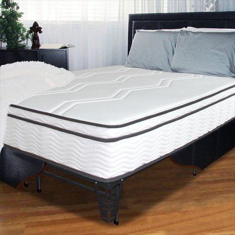 "11"" Memory Foam / Coil Mattress And Steel Foundation Set Size: King"