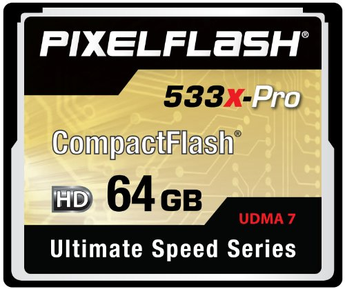 64GB PixelFlash 533x CF Compact Flash Memory Card Ultimate Speed Series UDMA-7