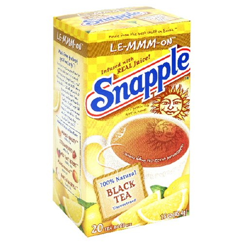 Buy Snapple Le-mmm-on Flavored Black Tea, Tea Bags, 20-Count Boxes (Pack of 12) (Snapple, Health & Personal Care, Products, Food & Snacks, Beverages, Tea, Black Teas)