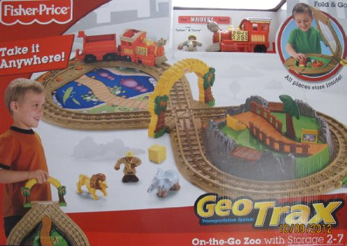 "Geotrax On The Go Zoo Train Set W Fold & Go Storage, ""Wildest Team"", Animals & More! (2008 Fisher Price)"